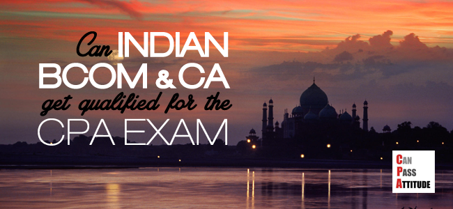 indian bcom ca for cpa exam