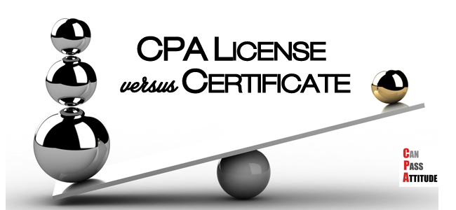cpa certificate vs license