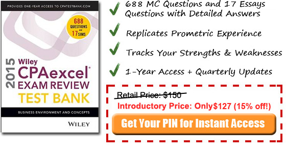 2014 BEC Wiley CPA test bank