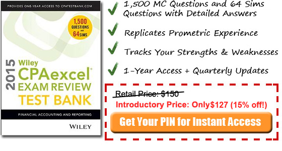 2014 FAR Wiley CPA test bank