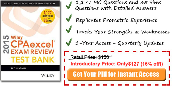 2014 REG Wiley CPA testbank