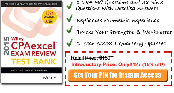 2014 AUD Wiley CPA test bank
