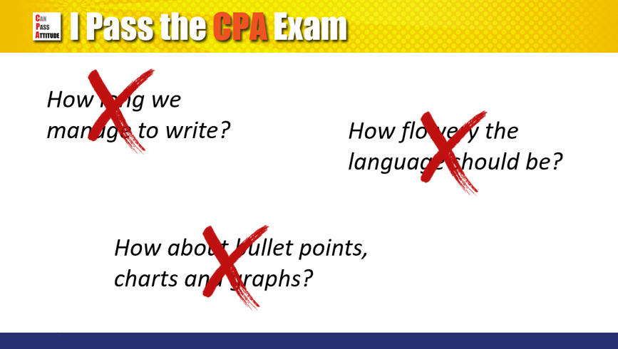 cpa exam essay questions Write my essay today university of seoul, the cpa exam: an introduction to the computer based exam, test taking examination questions with solutions (lambers cpa review) gruber's complete sat guide 2013, 16e university of milan.