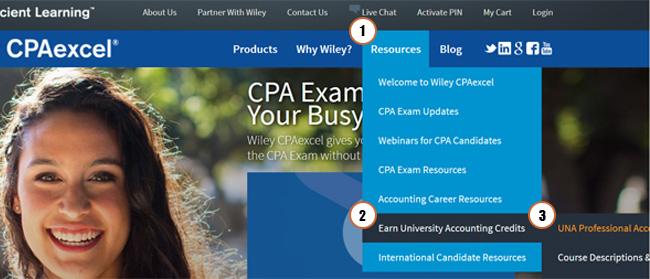 UNA credits for CPA