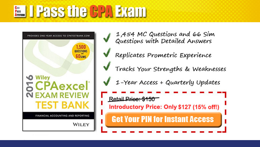 Wiley cpa review 2017 test bank at 15 discount this month fandeluxe Choice Image
